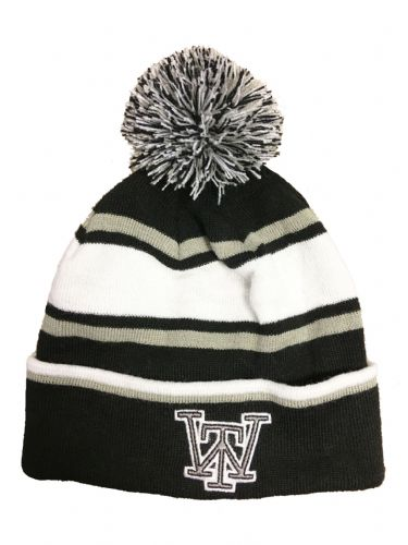 The Wandering Beanie - Black White Grey